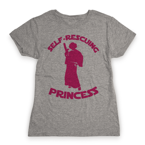 Self-Rescuing Princess Womens T-Shirt