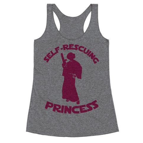 Self-Rescuing Princess Racerback Tank Top
