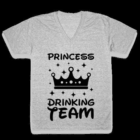 Princess Drinking Team V-Neck Tee Shirt