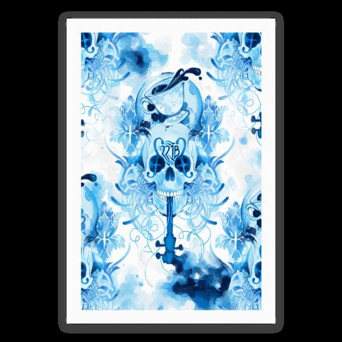 221B Sherlock Skull Watercolor Poster