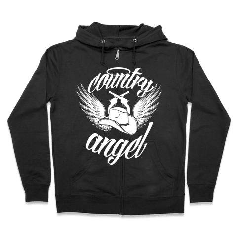 Country Angel Zip Hoodie