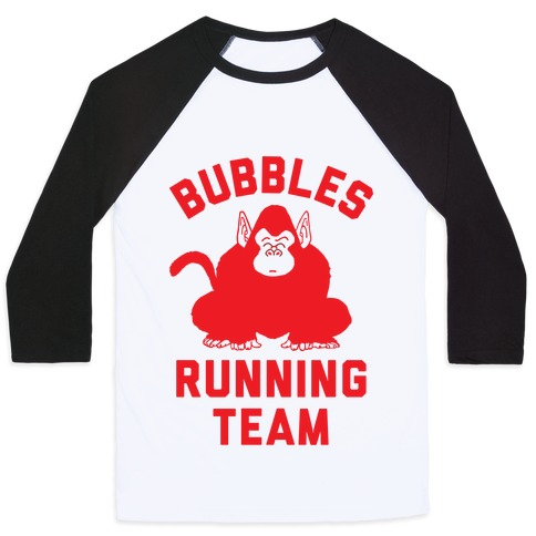 Bubbles Running Team Baseball Tee