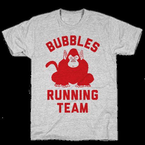 Bubbles Running Team Mens/Unisex T-Shirt