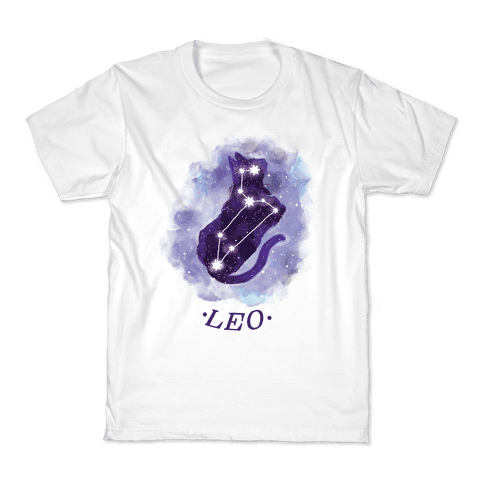 Cat Zodiac: Leo Kids T-Shirt