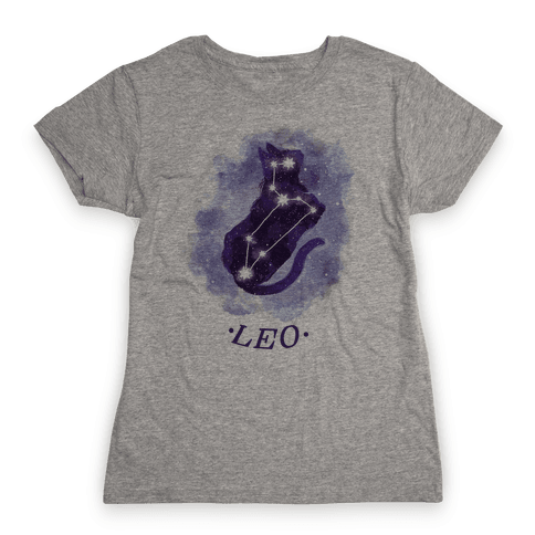 Cat Zodiac: Leo Womens T-Shirt