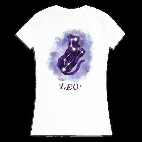 Cat Zodiac: Leo Womens T-Shirt