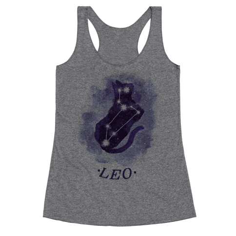 Cat Zodiac: Leo Racerback Tank Top