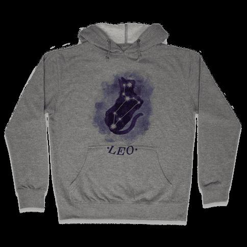 Cat Zodiac: Leo Hooded Sweatshirt