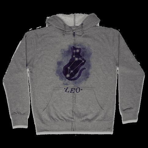 Cat Zodiac: Leo Zip Hoodie