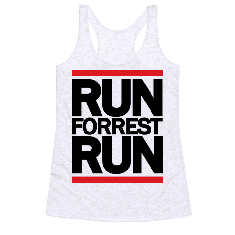 Run Forrest Run Racerback Tank Top