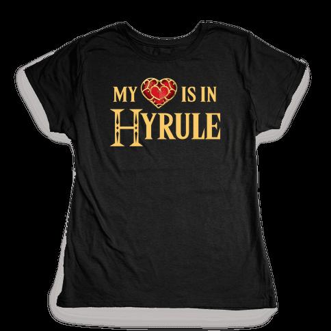 My (Heart) is in Hyrule Womens T-Shirt