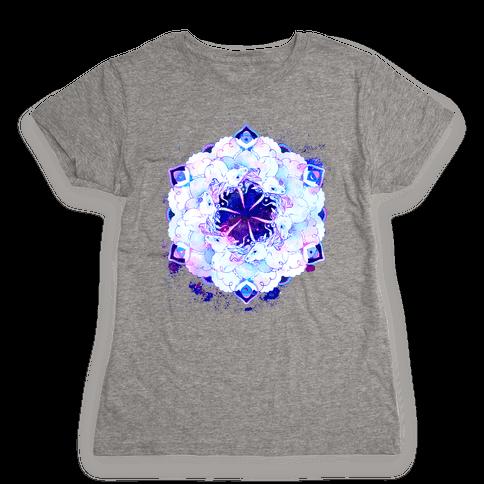 Unicorn Space Ring Womens T-Shirt