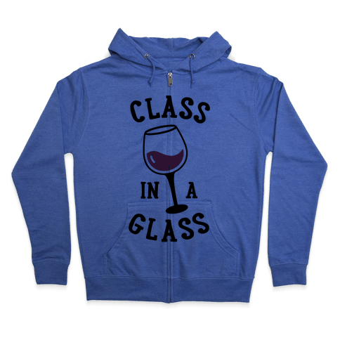 Class In A Glass Zip Hoodie
