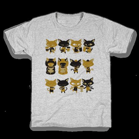 Coffee Cats Kids T-Shirt