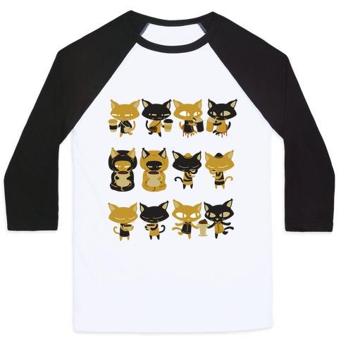 d431a641f1 ... ShirtsCatsCute Cat ArtCoffee · Coffee Cats Baseball Tee