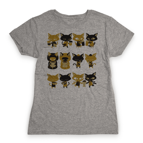 Coffee Cats Womens T-Shirt