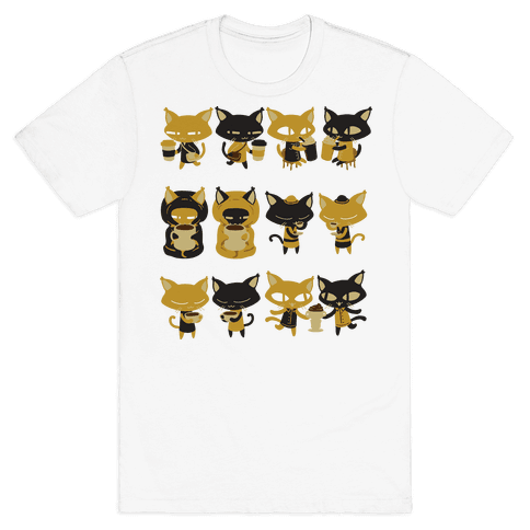 Coffee Cats Mens T-Shirt