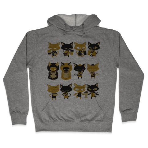 Coffee Cats Hooded Sweatshirt
