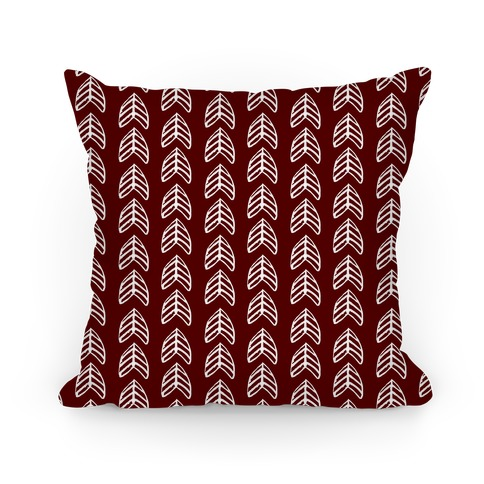 Trendy Maroon Chevron Pattern Pillow