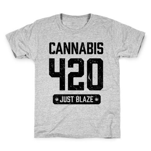 Cannabis 420 Varsity Kids T-Shirt