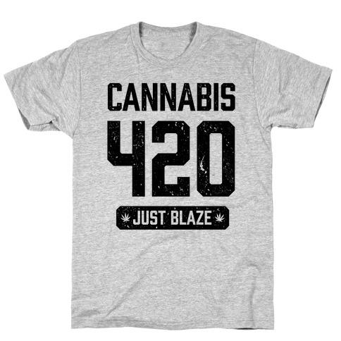 Cannabis 420 Varsity T-Shirt