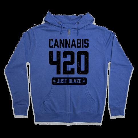 Cannabis 420 Varsity Zip Hoodie