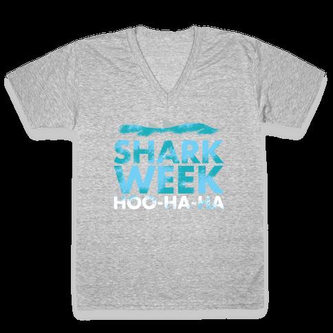 Shark Week V-Neck Tee Shirt