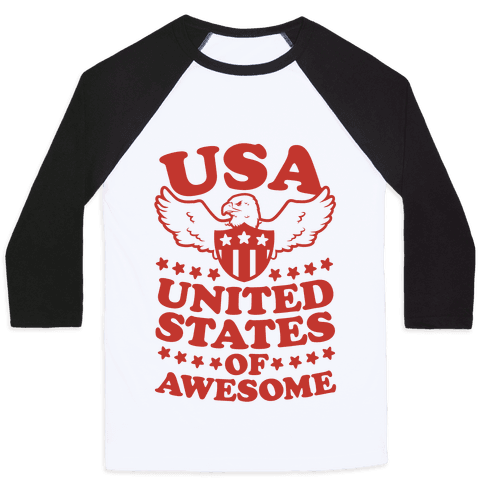 United States of Awesome Baseball Tee