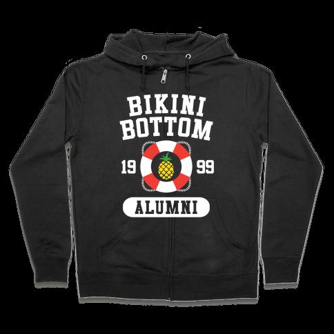 Bikini Bottom Alumni Zip Hoodie