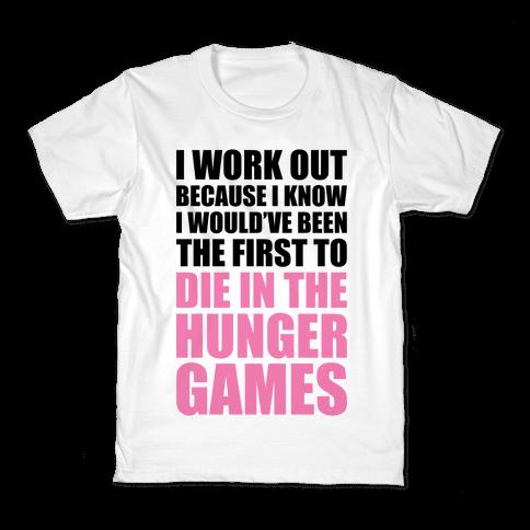 Hunger Games Workout Kids T-Shirt