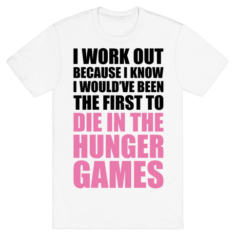 Hunger Games Workout Mens T-Shirt