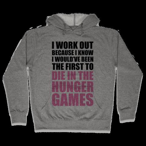 Hunger Games Workout Hooded Sweatshirt