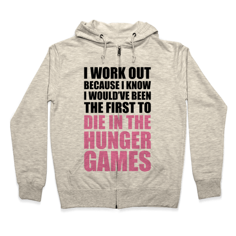 Hunger Games Workout Zip Hoodie