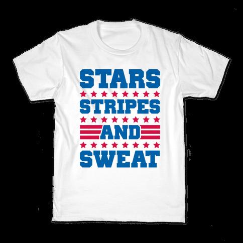 Stars Stripes and Sweat Kids T-Shirt