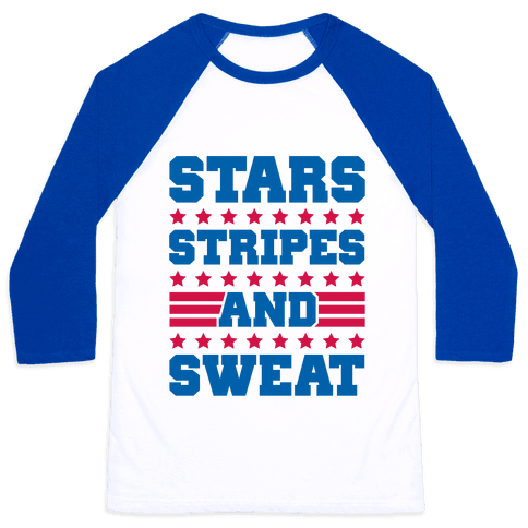 Stars Stripes and Sweat Baseball Tee