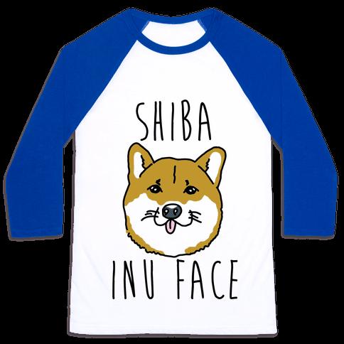 Shiba Inu Face Baseball Tee