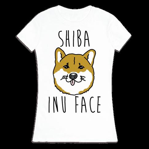 Shiba Inu Face Womens T-Shirt
