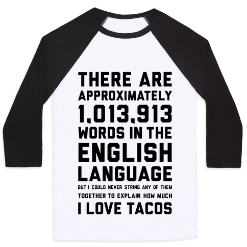 Words For I Love Tacos