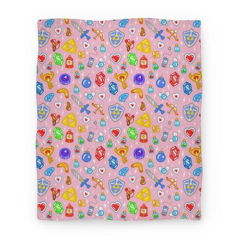 Zelda Items Blanket Blanket