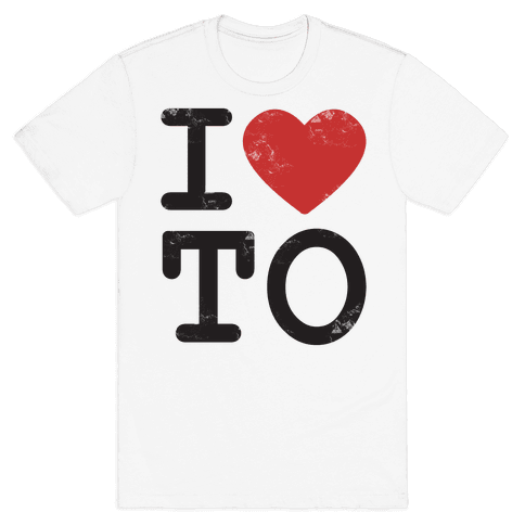 I Love Toronto Ontario Mens T-Shirt