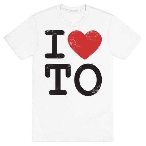 I Love Toronto Ontario Mens T-Shirt