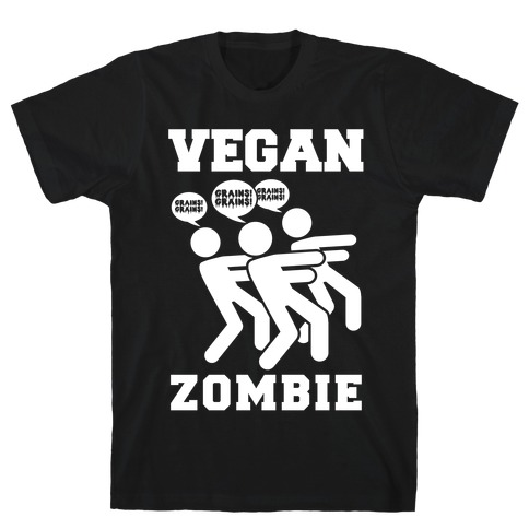 Vegan Zombie Mens T-Shirt