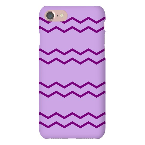 Purple Zig Zag Pattern Phone Case