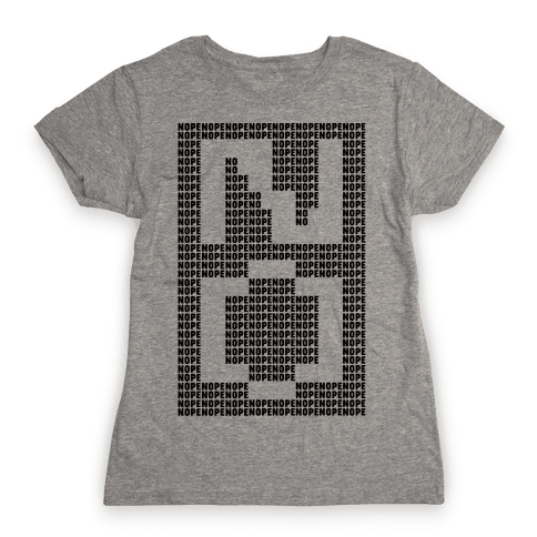 Nope Ascii Art Womens T-Shirt