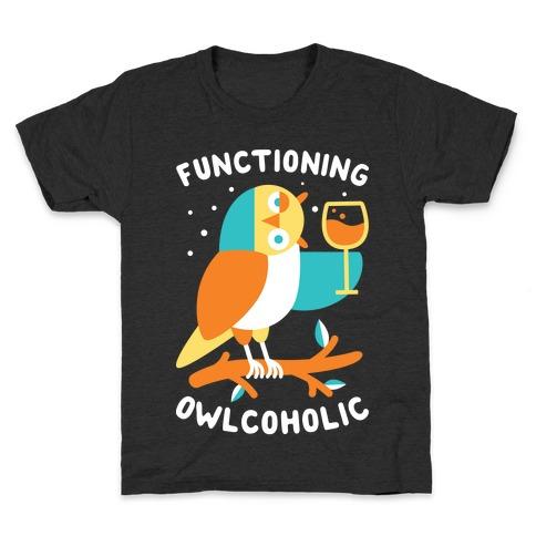 Functioning Owlcoholic Kids T-Shirt