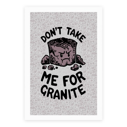 Don't Take Me For Granite Poster