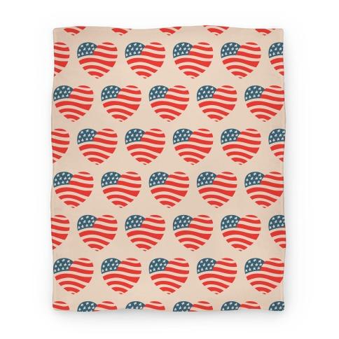 American Heart Pattern Blanket