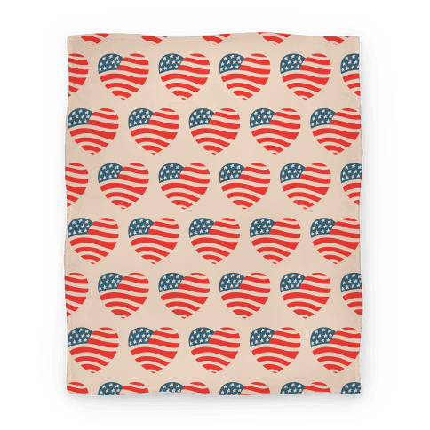 American Heart Pattern Blanket