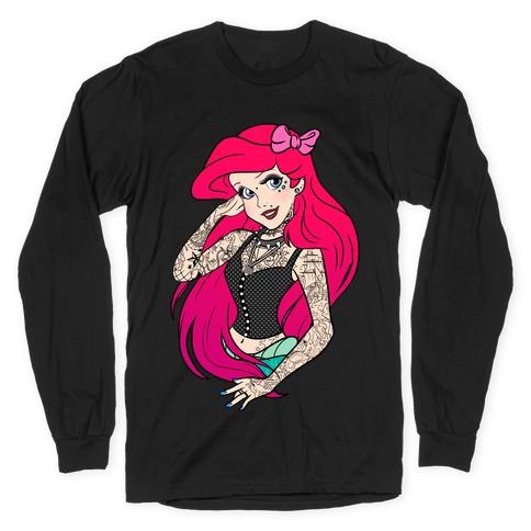 Punk Ariel Parody Long Sleeve T-Shirt