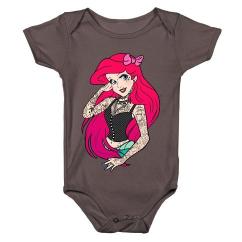Punk Ariel Parody Baby One-Piece